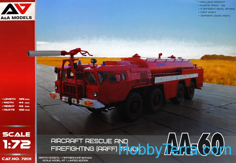 A & A Models  7201 Aircraft rescue and fire fighting truck AA-60