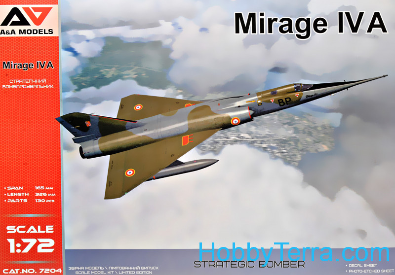 A & A Models  7204 Mirage IV A Strategic bomber. Re-release