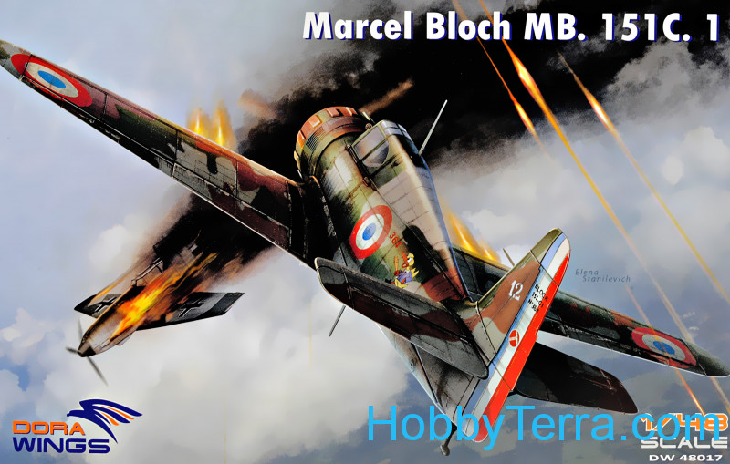 Dora Wings  48017 Bloch MB.151C.1 WWII French interceptor