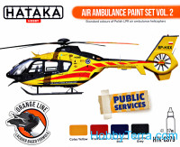 Set of paints. Air Ambulance (HEMS) vol.2, 4 pcs