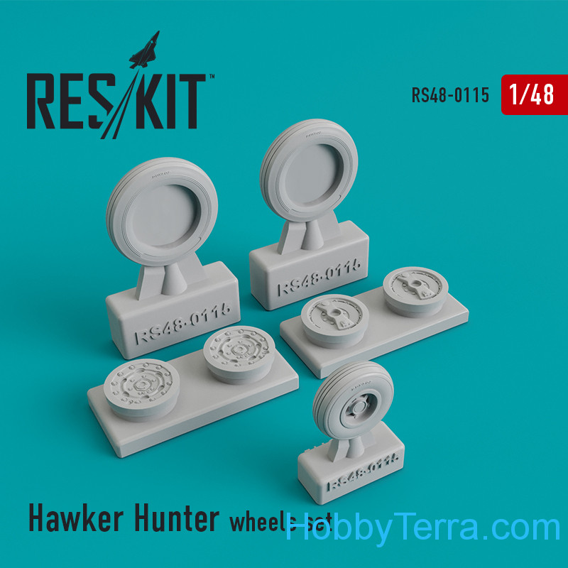 "RESKIT  48-0115 Wheels set for ""Hawker Hunter"""