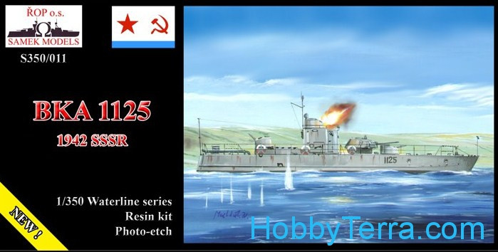 ROP o.s. Samek Models  S350-011 Soviet Navy BKA-1125 gunboat, 1942 (resin kit)