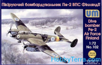 Pe-2 Air Force Finland dive bomber (resin parts)