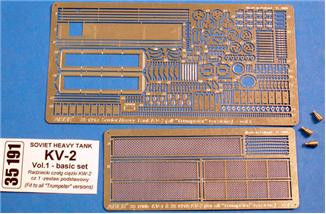 Photo-etched set 1/35 for KV-2 Vol.1 - basic set, for Trumpeter kit