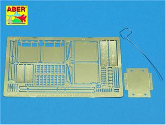 Photo-etched set 1/35 front and back fenders for Tiger I