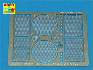 Photo-etched set 1/35 grilles for Panther Ausf. A/D