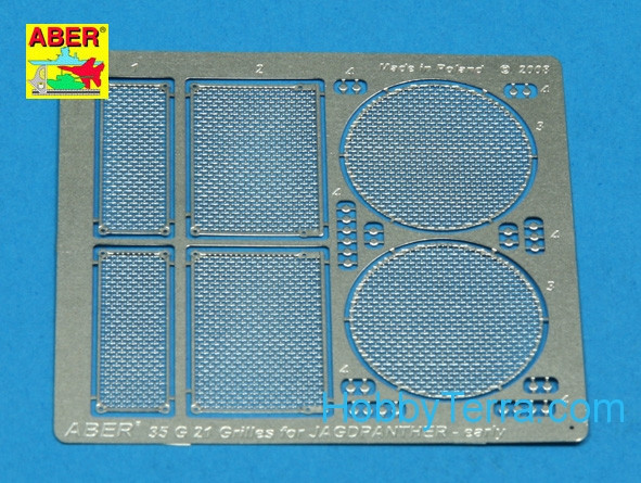 Grilles for Jagdpanther Ausf.G1 early, Dragon