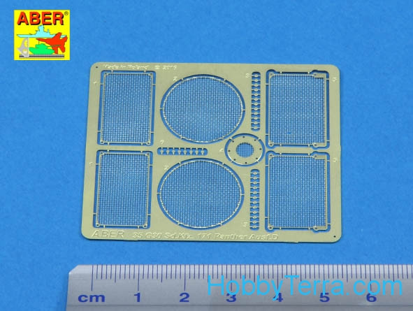 Grilles for Pz.Kpfw.V Ausf.D Panther (Sd.Kfz.181), for Tamiya kit