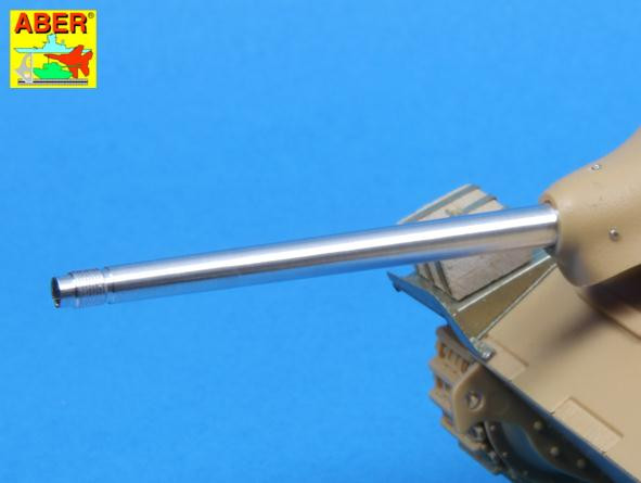 Aber  35 L121 German early 75mm Pak39 L/48 barrel for Hetzer, for Tamiya