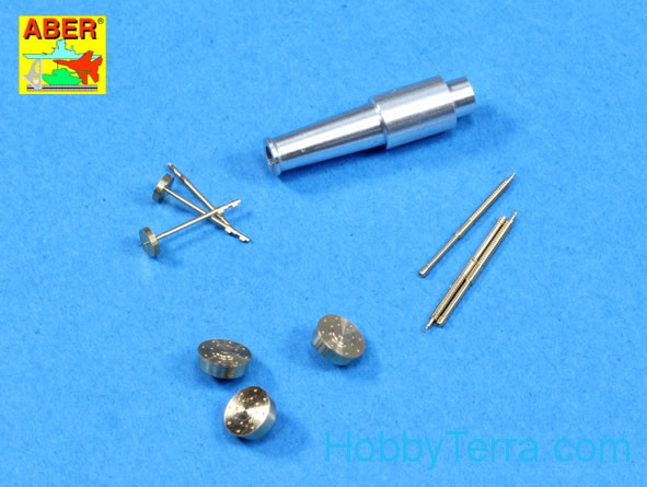 Set of barrels for Soviet tank T-28 (early model) 1x76,2mm, 3x7,62mm, for Hobby Boss