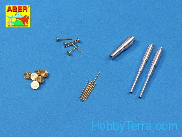 Set of barrels for tank T-35 1938-39 1xKT-28 (76,2mm), 2x20 K (45mm), 6x MG DT (7,62mm) Hobby Boss