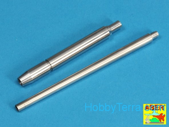 128mm PaK 44 L/55 gun barrel for Sd.Kfz.186 Jagdtiger, for Tamiya