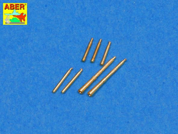Set of 7 barrels tips for Soviet Degtijarew DT and DP machine guns