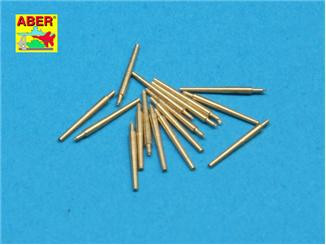 Aber  350-L33 Set of 16 pcs 102 mm type BL Mk.IX barrels for Royal Navy ships