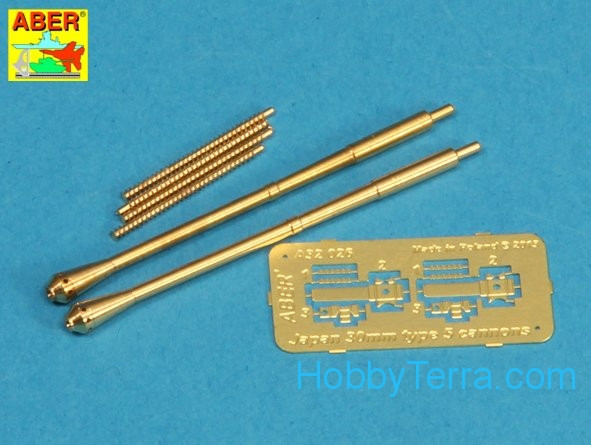 Aber  A32 026 Set of 2 barrels for Japanese 30 mm Type 5 aircraft machine cannons