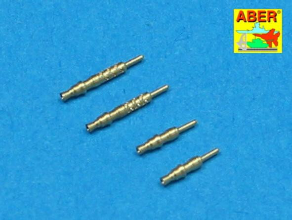 Aber  A48-003 Set of 4 barrels tips for German 7,92 mm MG 17 aircraft machine guns