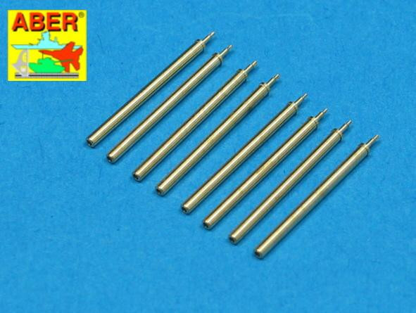 Set of 8 turned cal .50 (12,7mm) U.S. Browning M2 barrels for P-47 Thunderbolt