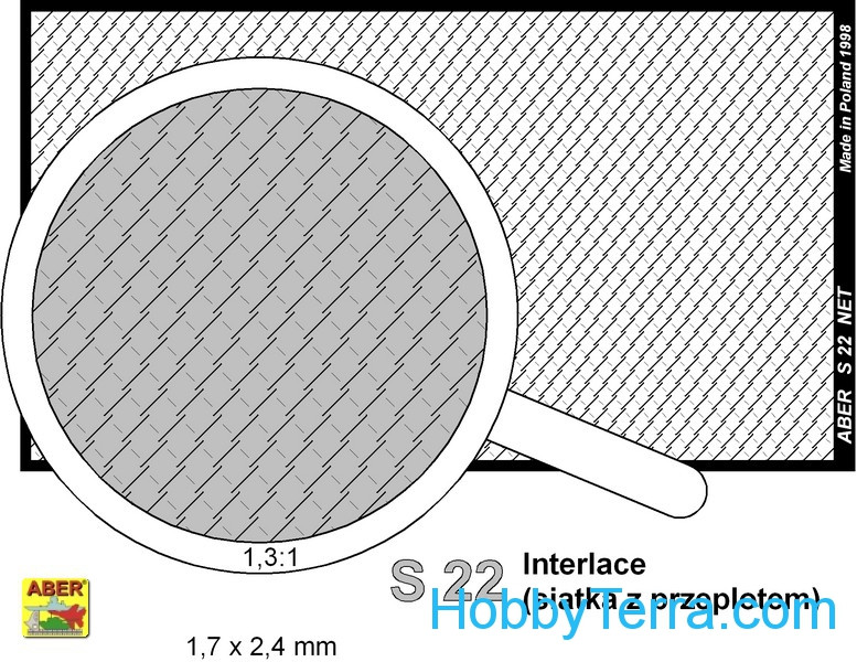 Nets interlace look and hexagonal (80x45mm) 1,7x2,4mm