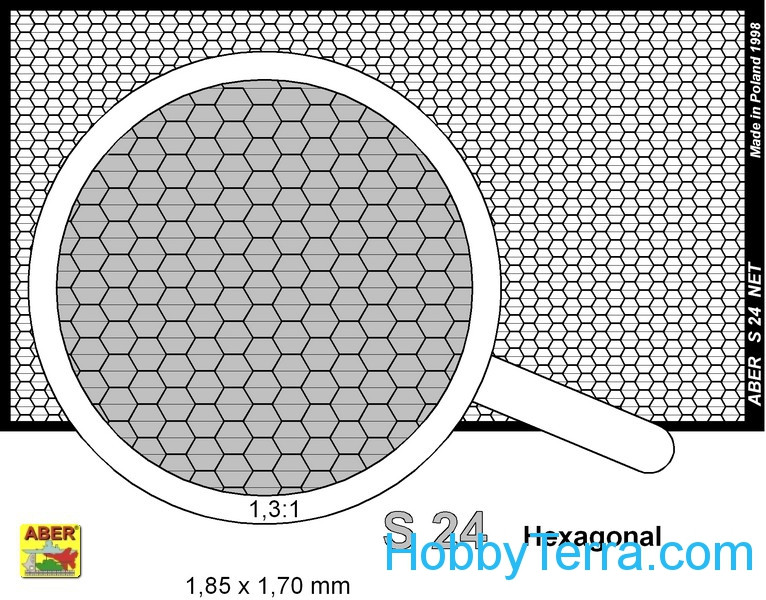 Nets interlace look and hexagonal (80x45mm) 1,85x1,7mm