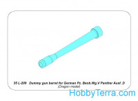 Aber  35-L209 Dummy gun barrel for German Pz.Beob.Wg.V Panther Ausf.D, for Dragon kit
