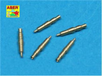 Set of 5 pcs. German Tank MG 34 machine guns tips barrels for turret mount