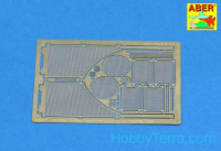 Grilles for Sd.Kfz.182 King Tiger (Porsche Turret), for Tamiya