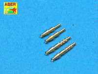 Set of 4 barrels tips for German 7,92 mm MG 17 aircraft machine guns