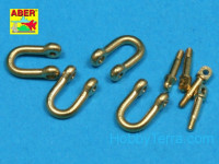 Late model shackle for Pz.Kpfw.IV Tiger Ausf B x4pcs