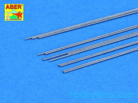 Steel round rods fi 0,4mm length 250mm 12 pcs