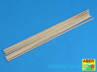Wood round, rods 3mm