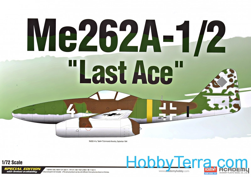 "Academy  12542 Me262A-1/2 ""Last ace"" fighter"