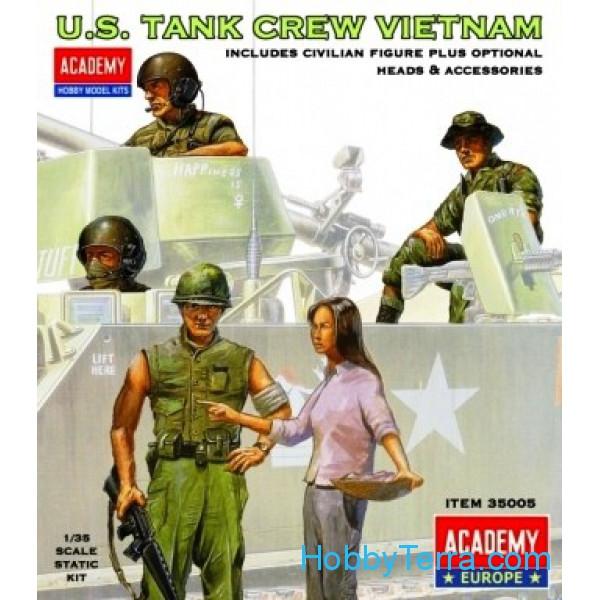 Figures 1:35 scale. US tank crew, Vietnam Academy 35005 ...