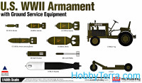 US WWII Armament with ground service equipment