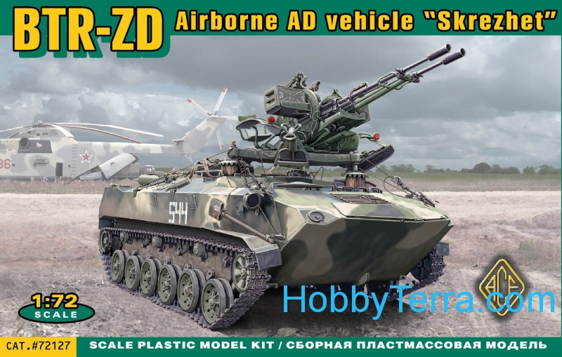 "Ace  72127 BTR-ZD ""Skrezhet"" Airborne AD vehicle"