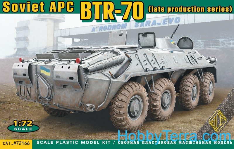 BTR-70 Soviet armored personnel carrier, late prod.