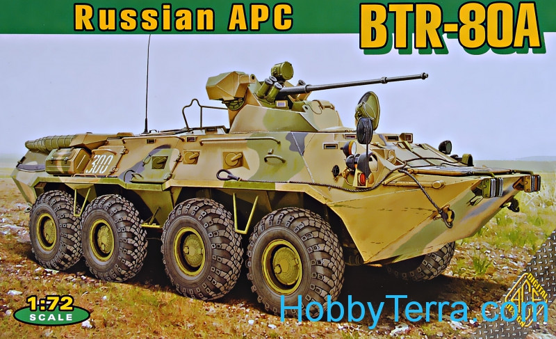 BTR-80A Soviet armored personnel carrier