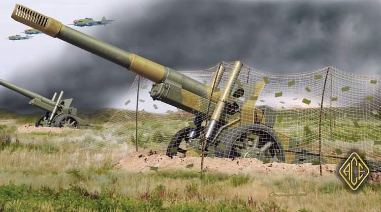ML-20 WWII Soviet 152mm gun-howitzer. Plastic model kit in ...
