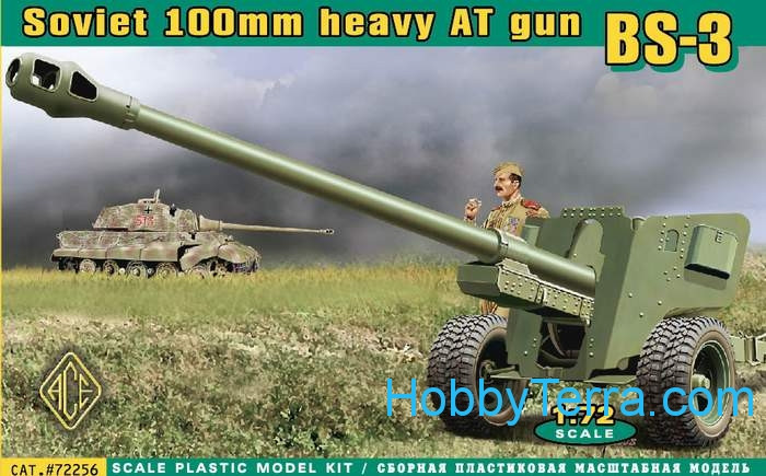 bs 3 wwii soviet 100mm heavy anti tank gun ace 72256 hobbyterra com