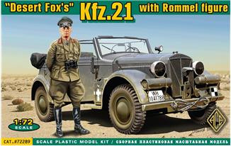 Ace  72289 Kfz.21 with Rommel figure
