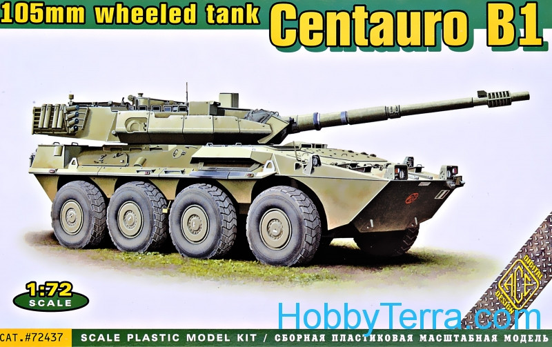 Ace  72437 Centauro B1 105mm wheeled tank