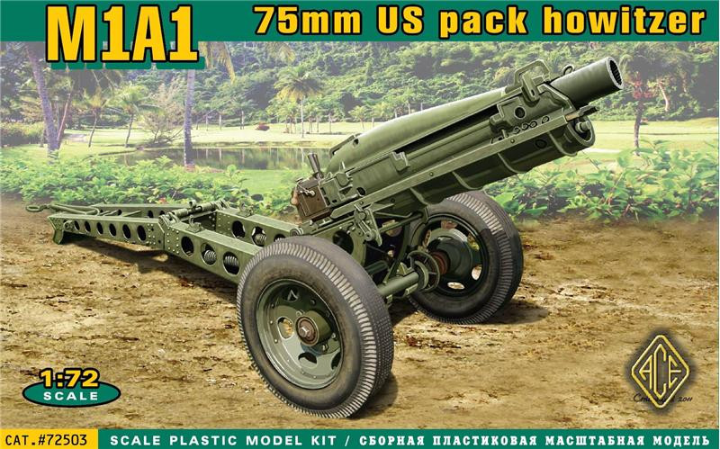 M1A1 75mm U.S. pack howitzer