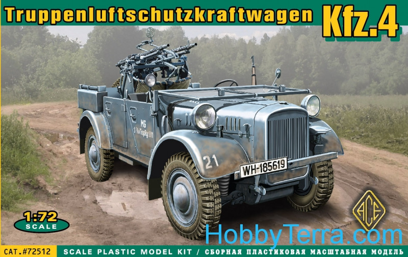 Ace  72512 Kfz.4 WWII German AA motor vehicle