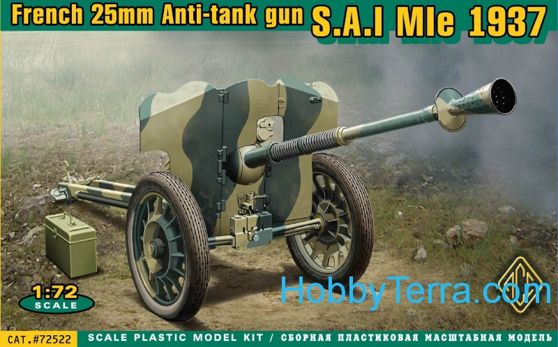 S.A.I Mle 1937 French 25mm anti-tank gun