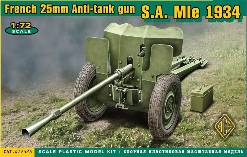 S.A. Mle 1934 French 25mm anti-tank gun