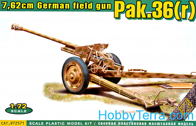 Ace  72571 Pak.36(r) German 7.62cm field gun