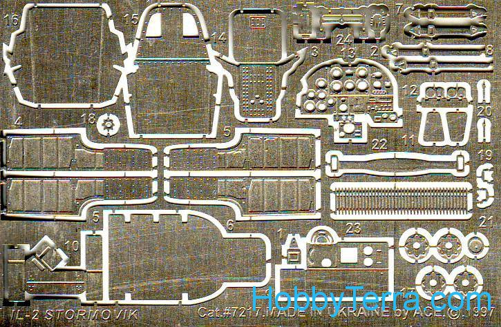 Photo-etched set IL-2m3, for Toko kit