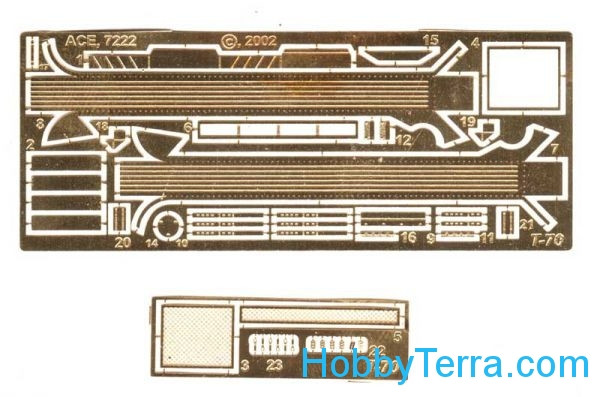 Ace  7222 Photo-etched set for light tank T-70 for UM kit