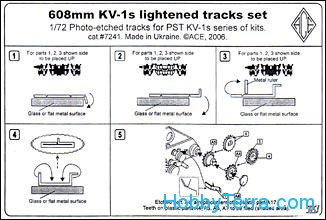 KV-1s 608mm lightened tracks set. cat#7241