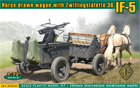 IF-5 horse drawn wagon (Type 36) with Zwillingslafette 36