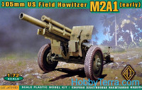 105mm US field howitzer M2A1, early type